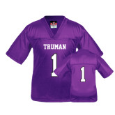 Youth Replica Purple Football Jersey-#1