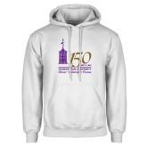 White Fleece Hoodie-150th Anniversary