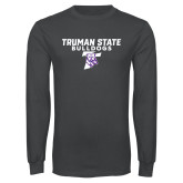 Charcoal Long Sleeve T Shirt-Bulldog T