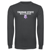 Charcoal Long Sleeve T Shirt-Bulldog