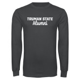 Charcoal Long Sleeve T Shirt-Alumni Script