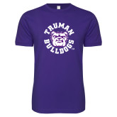 Next Level SoftStyle Purple T Shirt-Secondary Mark