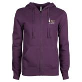 ENZA Ladies Purple Fleece Full Zip Hoodie-150th Anniversary