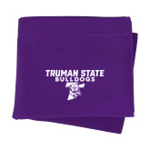Purple Sweatshirt Blanket-Bulldog T
