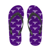 Ladies Full Color Flip Flops-Bulldog T