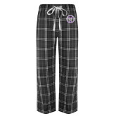 Black/Grey Flannel Pajama Pant-Truman Bulldogs Circle
