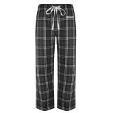 Black/Grey Flannel Pajama Pant-Bulldogs Wordmark