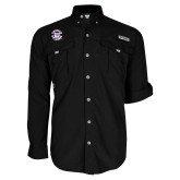 Columbia Bahama II Black Long Sleeve Shirt-Secondary Mark