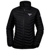 Columbia Powder Lite Ladies Black Jacket-Bulldog Head