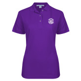 Ladies Easycare Purple Pique Polo-Secondary Mark