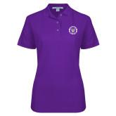 Ladies Easycare Purple Pique Polo-Truman Bulldogs Circle