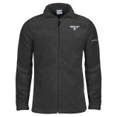 Columbia Full Zip Charcoal Fleece Jacket-Bulldog Head