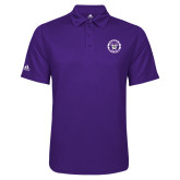 Adidas Climalite Purple Game Time Polo-Truman Bulldogs Circle