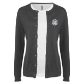 Ladies Charcoal Cardigan-Secondary Mark