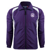 Colorblock Purple/White Wind Jacket-Secondary Mark