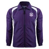 Colorblock Purple/White Wind Jacket-Secondary Mark
