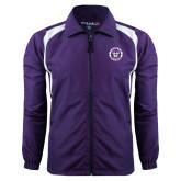 Colorblock Purple/White Wind Jacket-Truman Bulldogs Circle