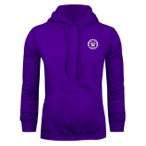 Purple Fleece Hoodie-Truman Bulldogs Circle