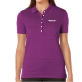 Ladies Callaway Opti Vent Purple Polo-Bulldogs Wordmark
