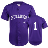Replica Purple Adult Baseball Jersey-#1