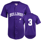 Replica Purple Adult Baseball Jersey-#3