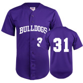 Replica Purple Adult Baseball Jersey-#31