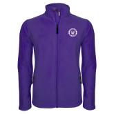 Fleece Full Zip Purple Jacket-Truman Bulldogs Circle