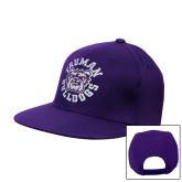 Purple Twill Flat Bill Snapback Hat-Secondary Mark