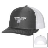 Richardson Charcoal/White Trucker Hat-Bulldog Head