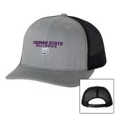 Richardson Heather Grey/Black Trucker Hat-Bulldog Head