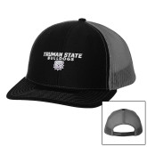 Richardson Black/Charcoal Trucker Hat-Bulldog Head