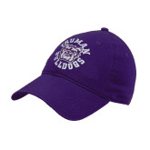 Purple Twill Unstructured Low Profile Hat-Secondary Mark