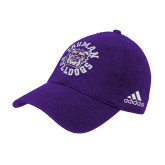 Adidas Purple Slouch Unstructured Low Profile Hat-Secondary Mark