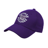 Purple Heavyweight Twill Pro Style Hat-Secondary Mark