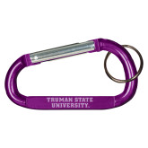 Purple Carabiner with Split Ring-Wordmark Engraved