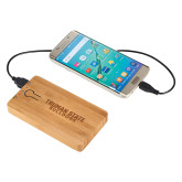 Bamboo 5,000 mAh Power Bank-Bulldogs Wordmark Engraved