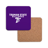 Hardboard Coaster w/Cork Backing-Bulldog T