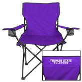 Deluxe Purple Captains Chair-Bulldogs Wordmark