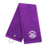 Purple Golf Towel-Secondary Mark