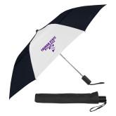 42 Inch Slim Stick Black/White Vented Umbrella-Bulldog T