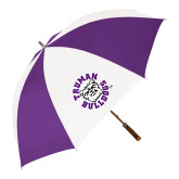 64 Inch Purple/White Umbrella-Secondary Mark