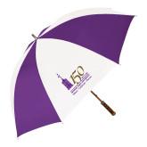 64 Inch Purple/White Umbrella-150th Anniversary