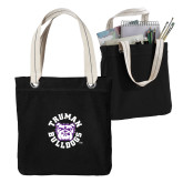 Allie Black Canvas Tote-Secondary Mark
