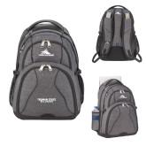 High Sierra Swerve Graphite Compu Backpack-Bulldogs Wordmark