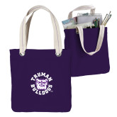 Allie Purple Canvas Tote-Secondary Mark