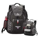 High Sierra Big Wig Black Compu Backpack-Bulldog Head