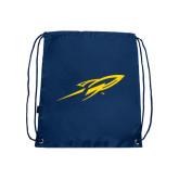 Navy Drawstring Backpack-Rocket
