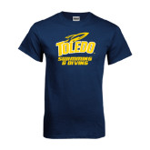 Navy T Shirt-Swimming and Diving
