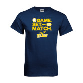 Navy T Shirt-Game Set Match