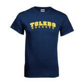 Navy T Shirt-Arched Toledo Rockets